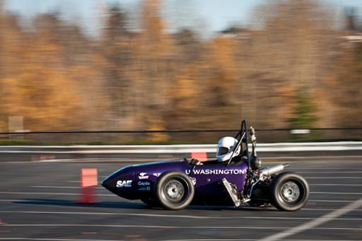UW FSAE Team 22 car running without aero during testing