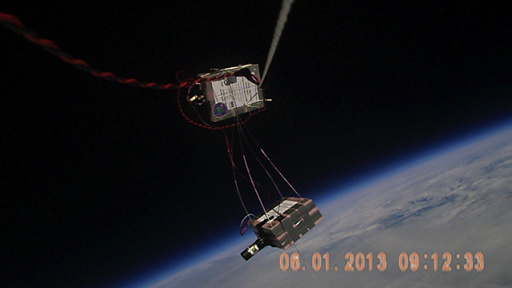 The LEAF experiment at its maximum altitude